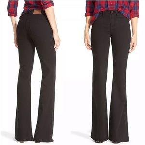 Madewell Flea Market flare jeans in black